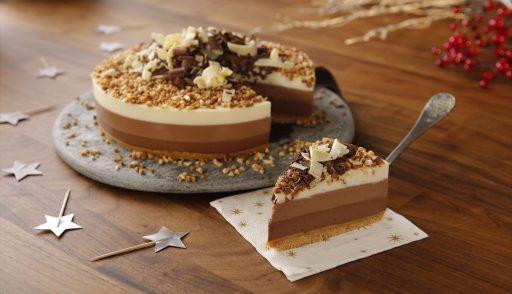 tarta tres chocolates receta