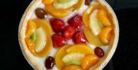 tarta de frutas con crema chantilly receta